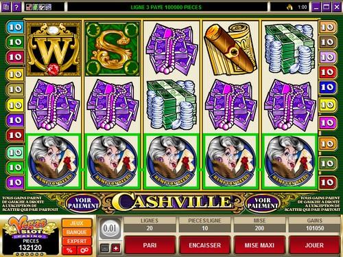 Jackpot de plus de 100.000 pièces au Casino Vegas Slot sur la machine à sous Cashville !
