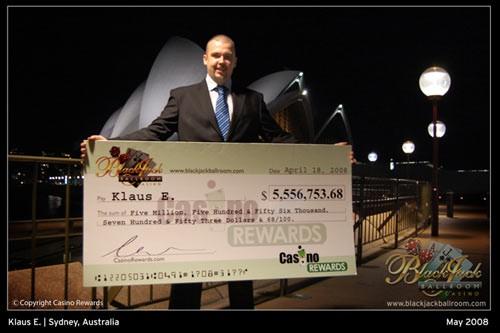 Klaus E. retire son chèque de 5,5 millions de dollars en Australie